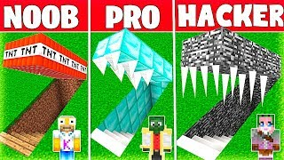 Minecraft NOOB vs PRO vs HACKER: EL BUNKER SECRETO MÁS SEGURO de MINECRAFT 💣