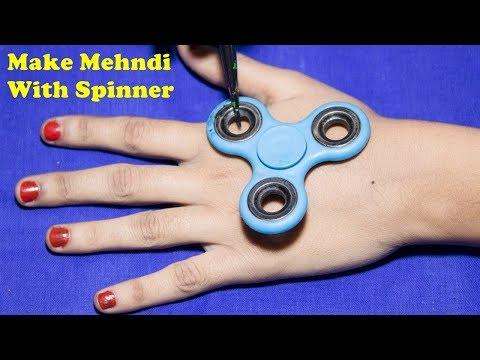 spinner की सहायता से सुंदर मेहंदी लगाना सीखें || mehndi design || New mehndi design || mehndi