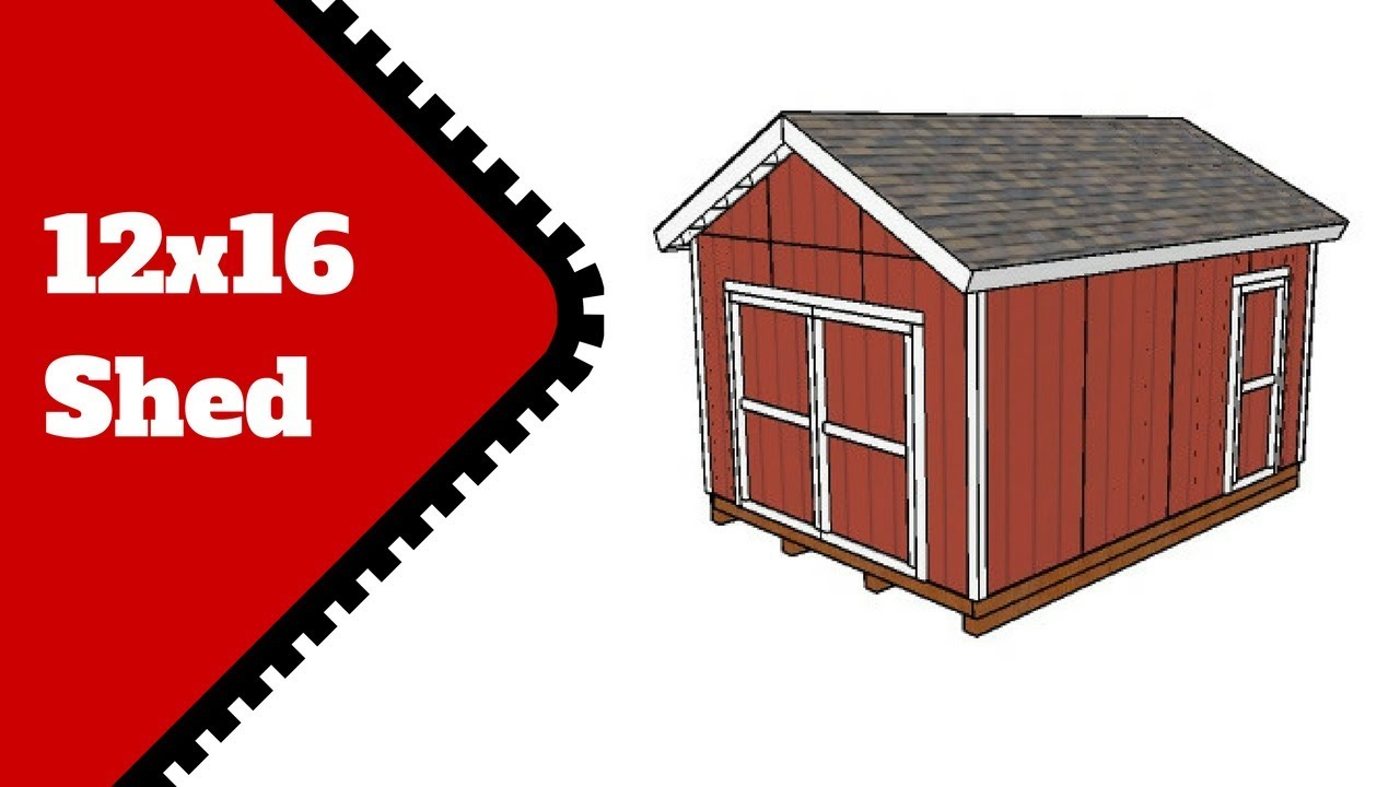 Free 12x16 Shed Plans Youtube