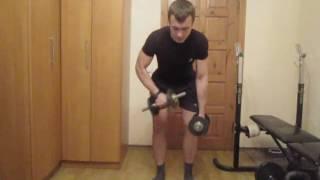 Тренируем мышцы спины дома. Урок 06 Тяга гантели в наклоне