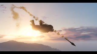 GTA Online: Funny Moments [Wingsuit Missile Dodge]