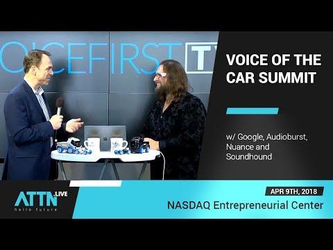 Voice Of The Car Summit @ NASDAQ Entrepreneurial Center W/ Google, Audioburst, Nuance And Soundhound