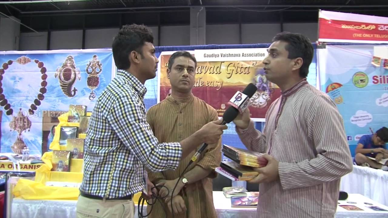 Gaurya Vaishnava Assoc. Representatives speaking to Desiplaza TV