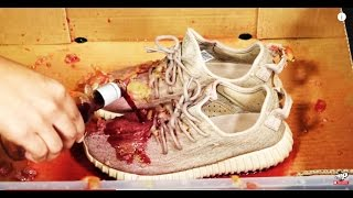 How to clean Adidas Yeezy 350 Boost vs RED WINE - Crep protect cure - EXTREME TEST 2