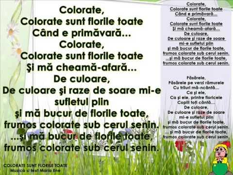 COLORATE SUNT FLORILE TOATE – Cantece pentru copii in limba romana