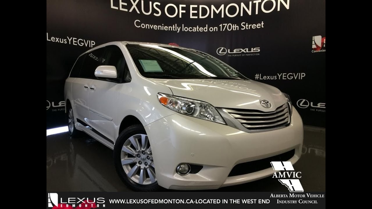 9b108c812a Used 2013 White Toyota Sienna V6 XLE 7-Pass AWD In Depth Review Sherwood  Park Alberta
