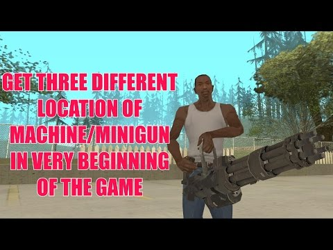 How To Get Machine Gun In GTA San Andreas (Beginning Of The Game)