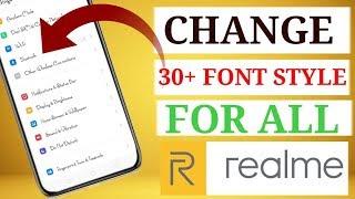 Realme 2 pro font style change in telugu
