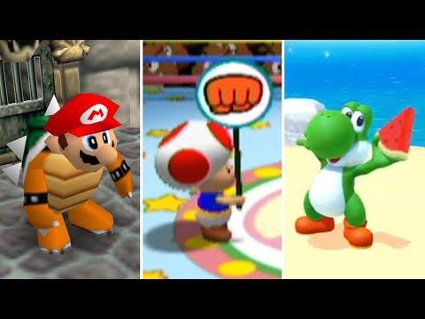 Evolution of 1-Vs-3 Minigames in Mario Party (1998-2017)