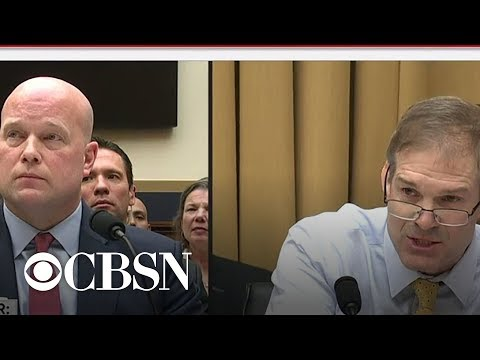 Rep. Jim Jordan questions Matthew Whitaker