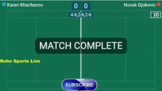 KHACHANOV K. vs DJOKOVIC N. Live Now Wimbledon 2018 - Score