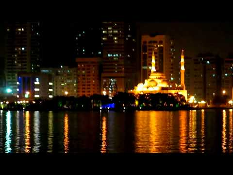 Sharjah Buhairah Corniche, UAE - Awesome Night View
