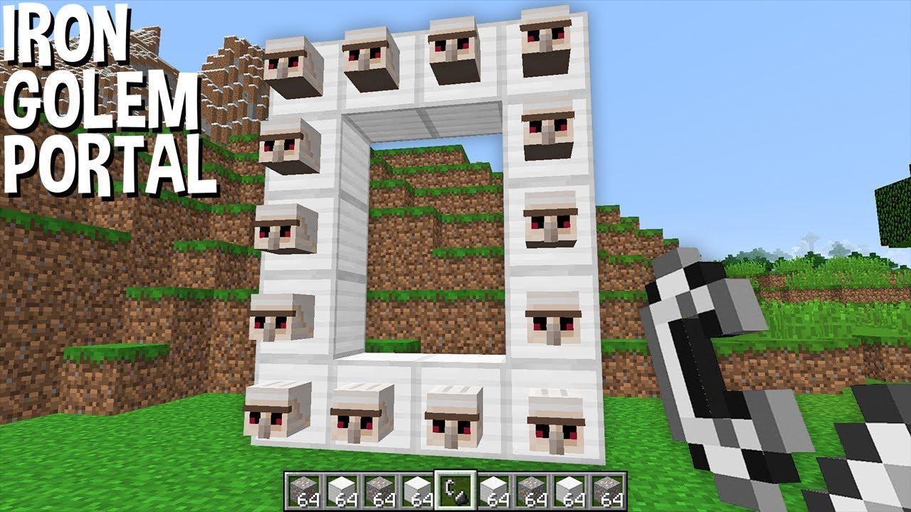 WHAT if BUILD IRON GOLEM PORTAL in Minecraft ? MOB PORTAL !