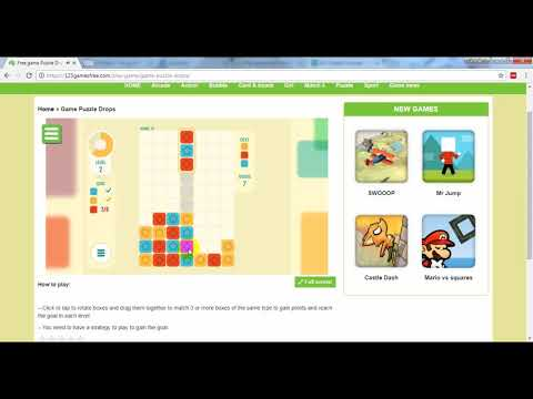 Puzzle Drops is one of the most addictive games on 123gamesfree.com