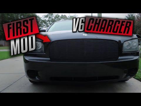 My First Car Mod! - Dodge Charger Aftermarket Custom Billet Grille!