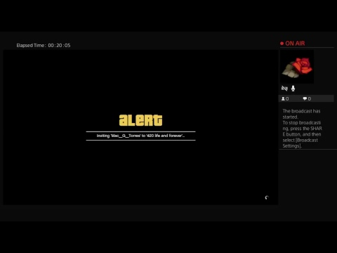 Il-Comex-II's Live PS4 Broadcast playing gta online part 16 on tiny hdtv