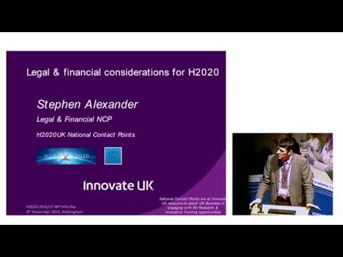 Horizon 2020: Legal and financial considerations