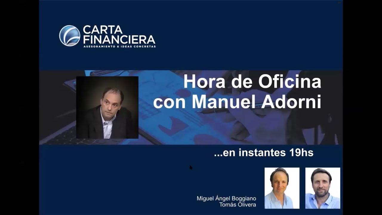 """Disertación en """"Hora de oficina"""", ciclo de charlas de """"Carta financiera"""""""