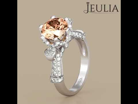 Jeulia classic round cut created champagne sapphire engagement jeulia classic round cut created champagne sapphire engagement ring jeulia junglespirit Images