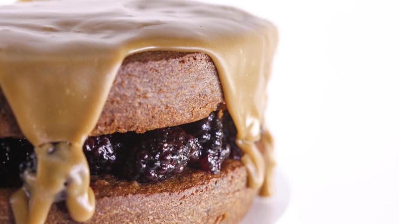 Easy Blackberry Jam Cake With Caramel Icing