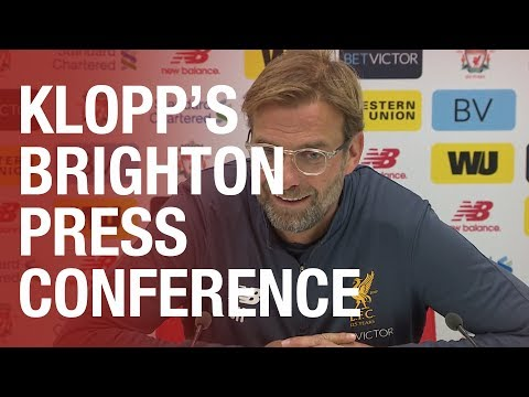 Jürgen Klopp's Brighton press conference from Melwood | Matip update, Salah and the Brighton Kop