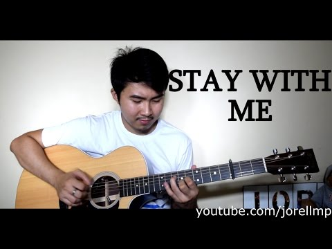 Chanyeol & Punch - Stay With Me (Fingerstyle cover by Jorell) INSTRUMEMTAL | KARAOKE WITH LYRICS