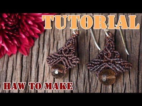 How to make macrame earrings tutorial. DIY macrame earrings#2