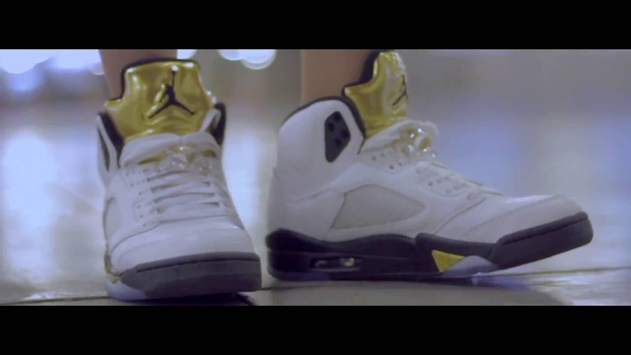 80220c5b4f9 AIR JORDAN 5 ON FEET [OLYMPIC GOLD MEDAL] - LOOKBOOK - YouTube