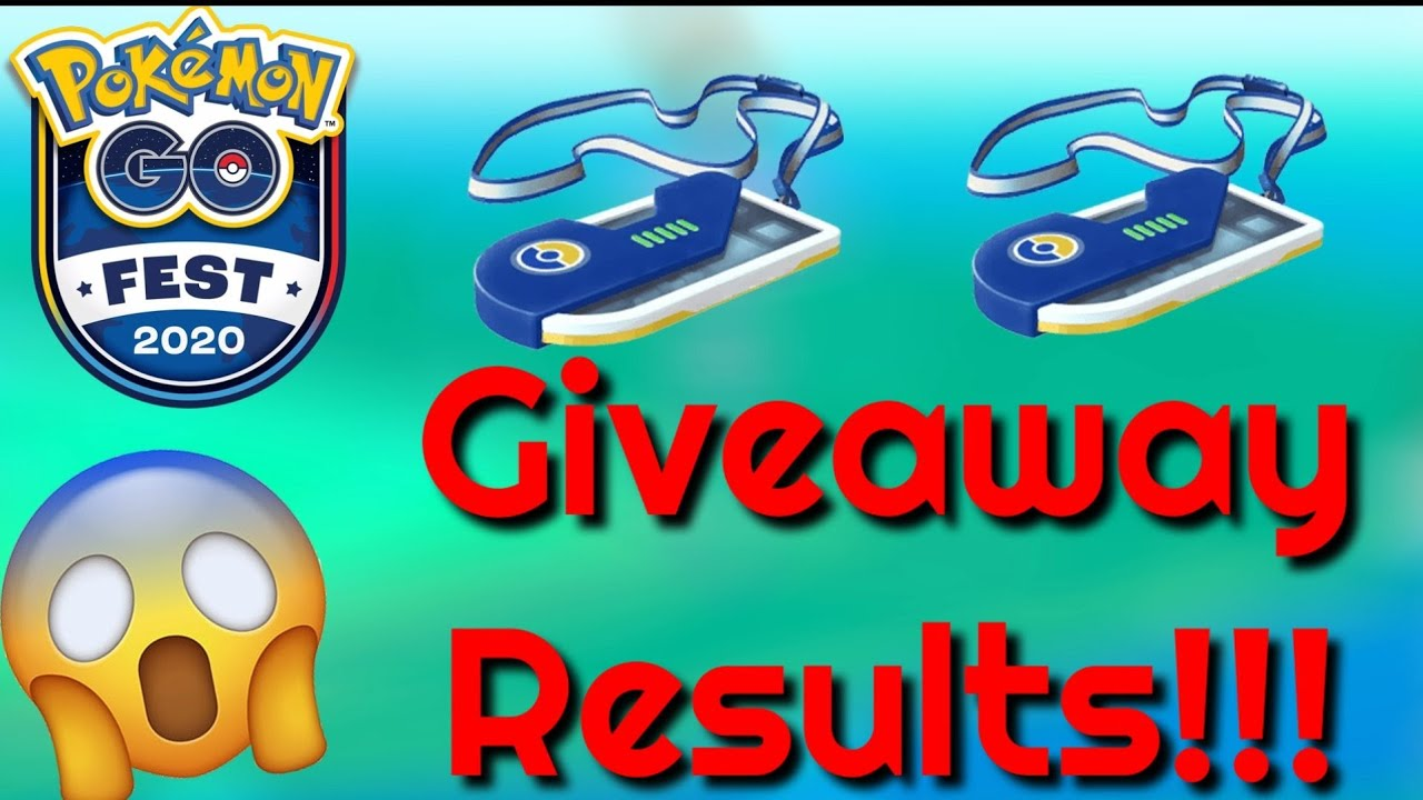 GO Fest 2020 Tickets GIVEAWAY RESULTS!!!   Pokemon GO   - YouTube