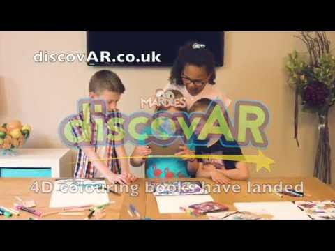 Mardles discovAR 4D colouring books that come to life!