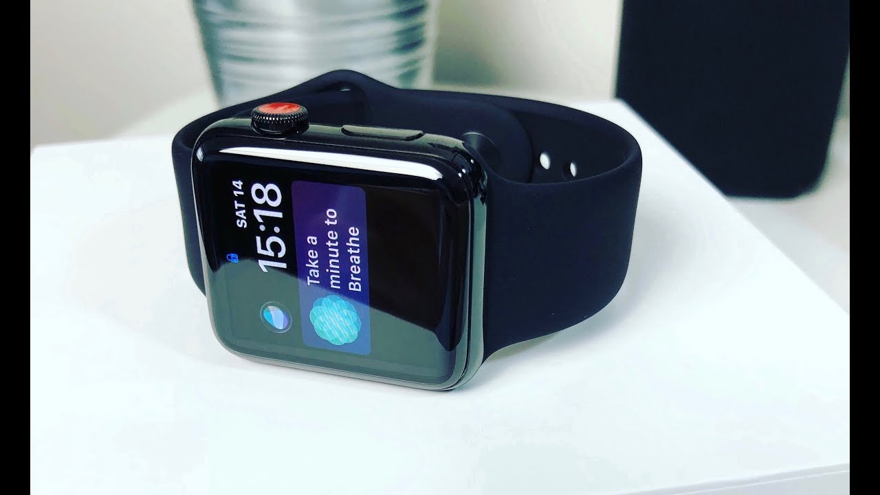 the latest 6aa41 cf700 Apple Watch Series 3 SPACE BLACK!! - UNBOXING AND FIRST IMPRESSIONS