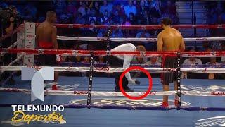 ¡Insólito! Se le cayó el celular en plena pelea de Boxeo | Telemundo Deportes