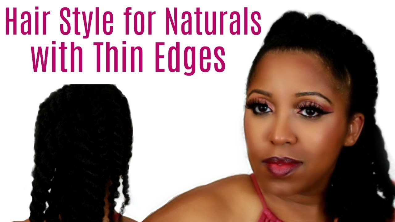 Quick Hairstyle For Thinning Edges Kinky Curly Twisted Mohawk