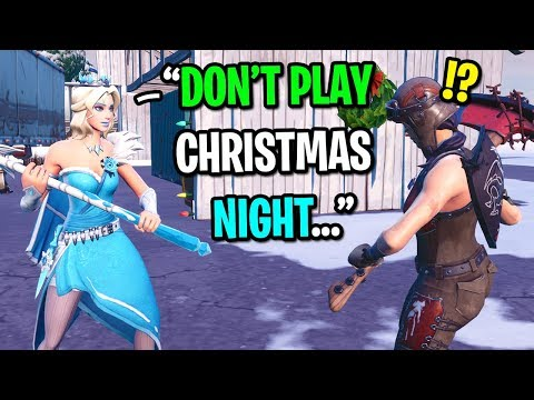 I played Fortnite at 3AM on Christmas and THIS happened...