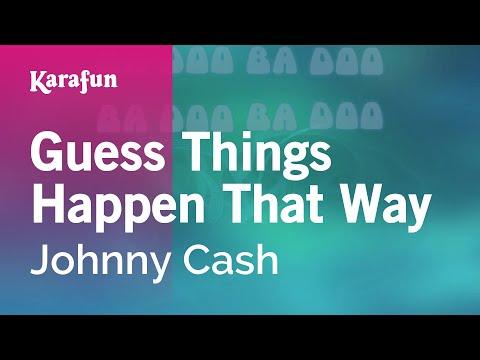 Karaoke Guess Things Happen That Way - Johnny Cash *