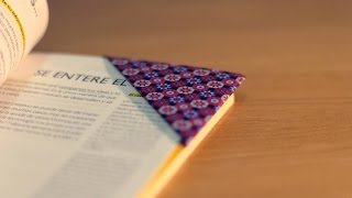 DIY ORIGAMI: Cómo hacer un marcapáginas - How to make a bookmark