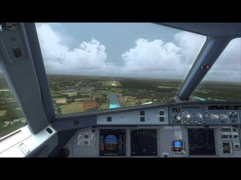 Cockpit A320 landing Belize City [FSX]