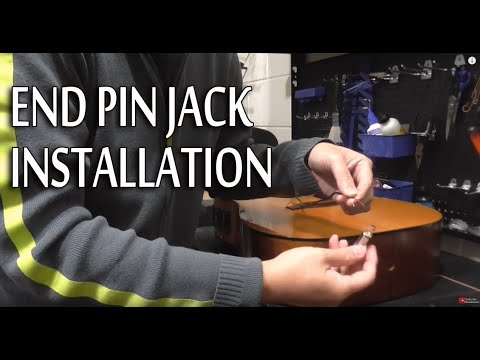 Acoustic Guitar Diy End Pin Jack Installation Youtube