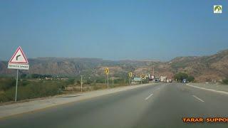 Traveling Pakistan M2 Motorway Salt Mountain Range To New ISB Airport