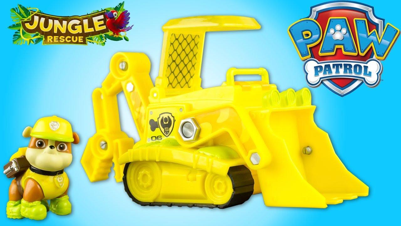 pat patrouille ruben jungle rescue bulldozer paw patrol jouet toy review patrulla de cachorros. Black Bedroom Furniture Sets. Home Design Ideas
