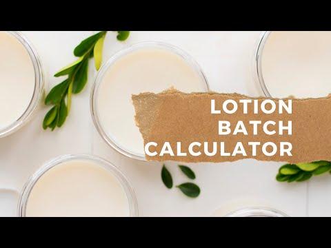 Diy skin care sea lab: lotion calculator/ batch size calculator.