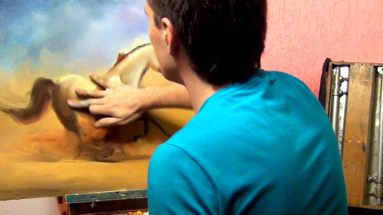 How To Draw The Horse Best Class For Painting The Horse Alexandr Uzhakov   Youtube