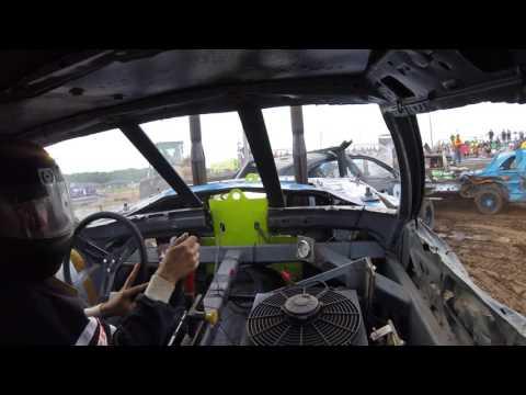 Tyler Quast #73 Rush City Demolition Derby July 2017: Heat 1