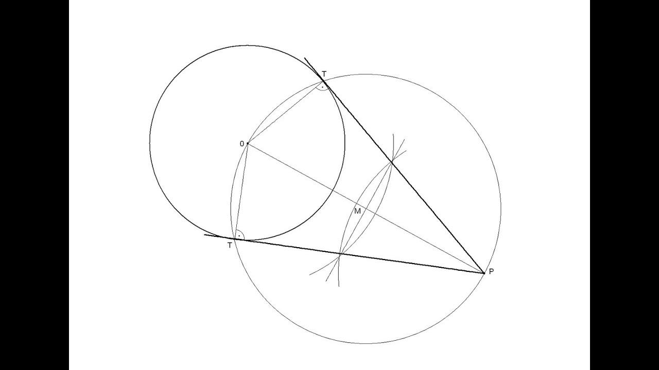 Rectas tangentes a una circunferencia por un punto for Exterior tangente y secante
