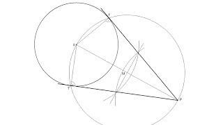 Cómo dibujar las rectas tangentes a una circunferencia pasando por un punto exterior
