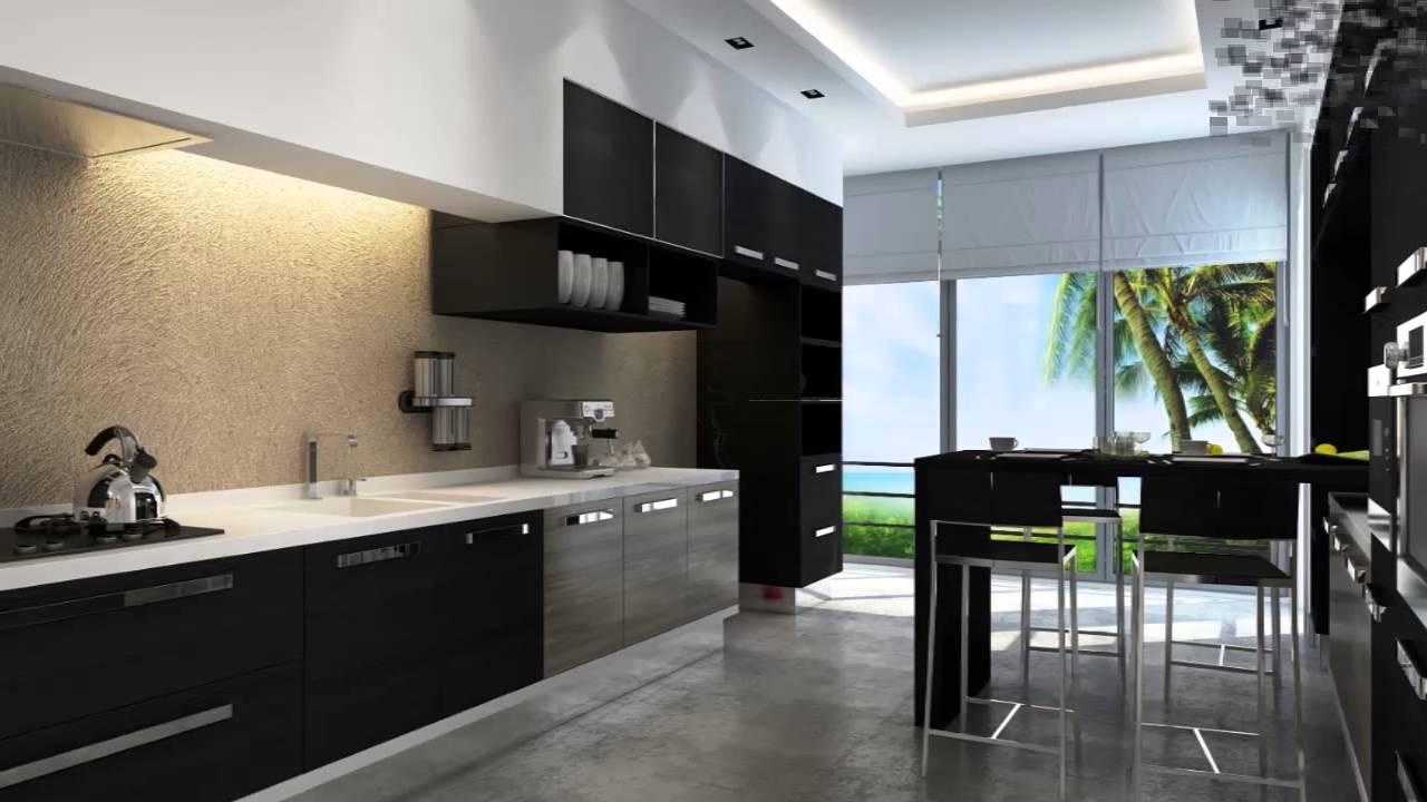 Zwarte keuken ontwerp ideen  YouTube