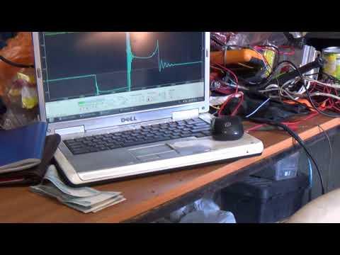 Диагностика системы зажигания индуктивной линейкой моторотестером Диамаг-2.