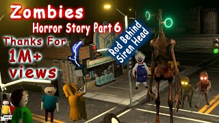 Zombies Horror Story Part 4 | Siren Head Game | Make Joke Horror | gulli bulli zombies 4 part