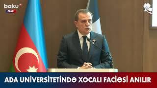 Nazir Ceyhun Bayramovun #Xocalı soyqırımının 29-cu ildönümünə həsr edilmiş konfransda çıxışı