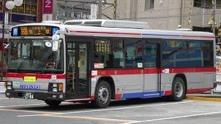【3DFHD】東急バス I1442(ISUZU ERGA) 井09 池上駅⇒池上営業所 前面展望('15.1.24午後)